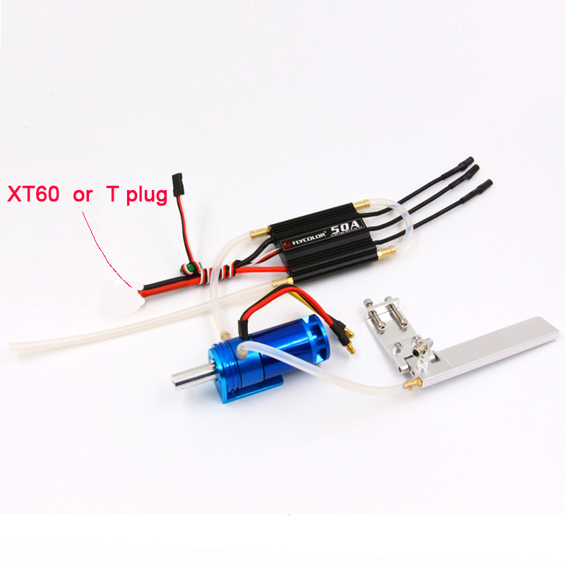 FATJAY RC radio control boat brushless motor with ESC power system combo 2862 2800KV flycolor 50A
