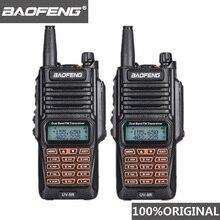 2 pçs original baofeng UV 9R walkie talkie portátil ip67 à prova dip67 água rádio amador uhf vhf uv 9r woki caça cb rádio uv 9r