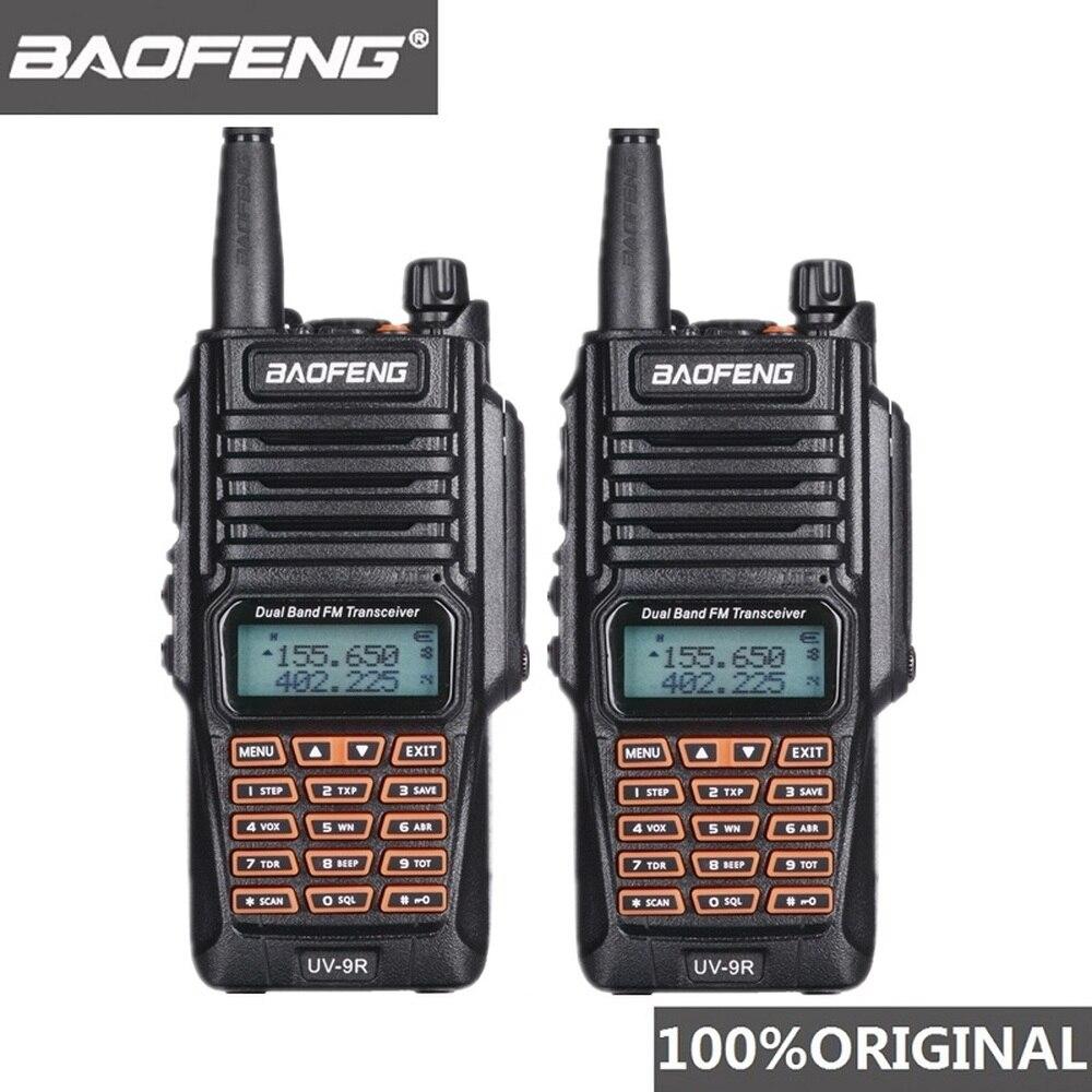 2pcs Original Baofeng UV-9R Walkie Talkie Portable IP67 Waterproof Amateur Radio Uhf Vhf UV 9R Woki Toki Hunting CB Radio UV 9R