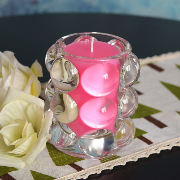 Creative Romantic Scented Birthday Weddings Candles Love Flameless Candles Glass Holder Wedding Centerpieces Birthday Decoration