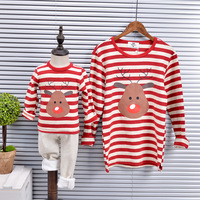 Family Look T Shirt Christmas Pajamas Family Clothing Santa Deer Matching Mother And Daughter Clothes Family