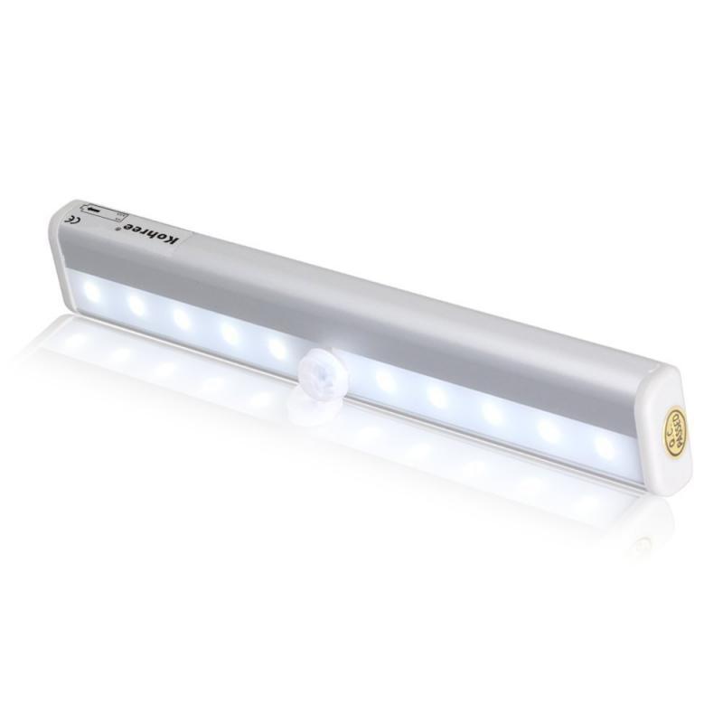 Luzes da Noite escadas luz barra de luz Color : 10 Led Pir Motion Sensor Light With Light Sensor
