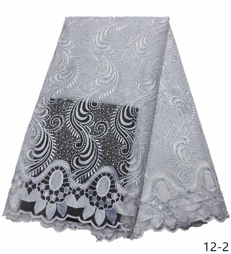 Оптовая продажа белая кружевная Высококачественная африканская белая кружевная ткань новая Белая французская белая кружевная ткань нигерийские кружевные ткани для платья