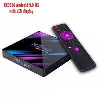 4 GB RAM 64 GB 4 K Smart TV Box Android 9.0 H96 MAX Plus RK3328 Set top box 2.4 g/5G WIFI H96Max + pk T9 android 8.1 Media pl