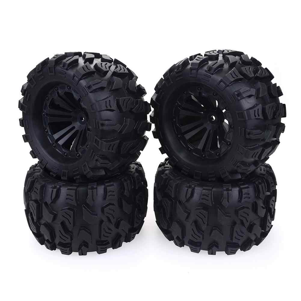 2019 Nova 4 PCS 125 milímetros 1/10 Monster Truck Tire & Wheel Hex 12mm Para Kyosho Tamiya Traxxas HPI HSP Savage XS Flux TM LRP