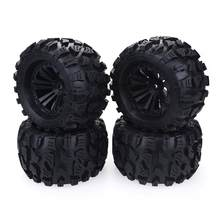 2020 Nieuwe 4 Pcs 125 Mm 1/10 Monster Truck Tire & Wheel Hex 12 Mm Voor Traxxas Tamiya Kyosho Hpi hsp Savage Xs Tm Flux Lrp(China)