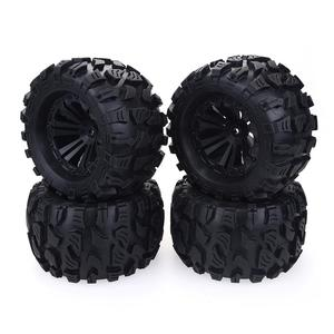 Image 1 - 2020 New 4PCS 125mm 1/10 Monster Truck Tire & Wheel Hex 12mm For Traxxas Tamiya Kyosho HPI HSP Savage XS TM Flux LRP