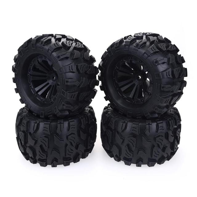 2020 New 4PCS 125mm 1/10 Monster Truck Tire & Wheel Hex 12mm For Traxxas Tamiya Kyosho HPI HSP Savage XS TM Flux LRP