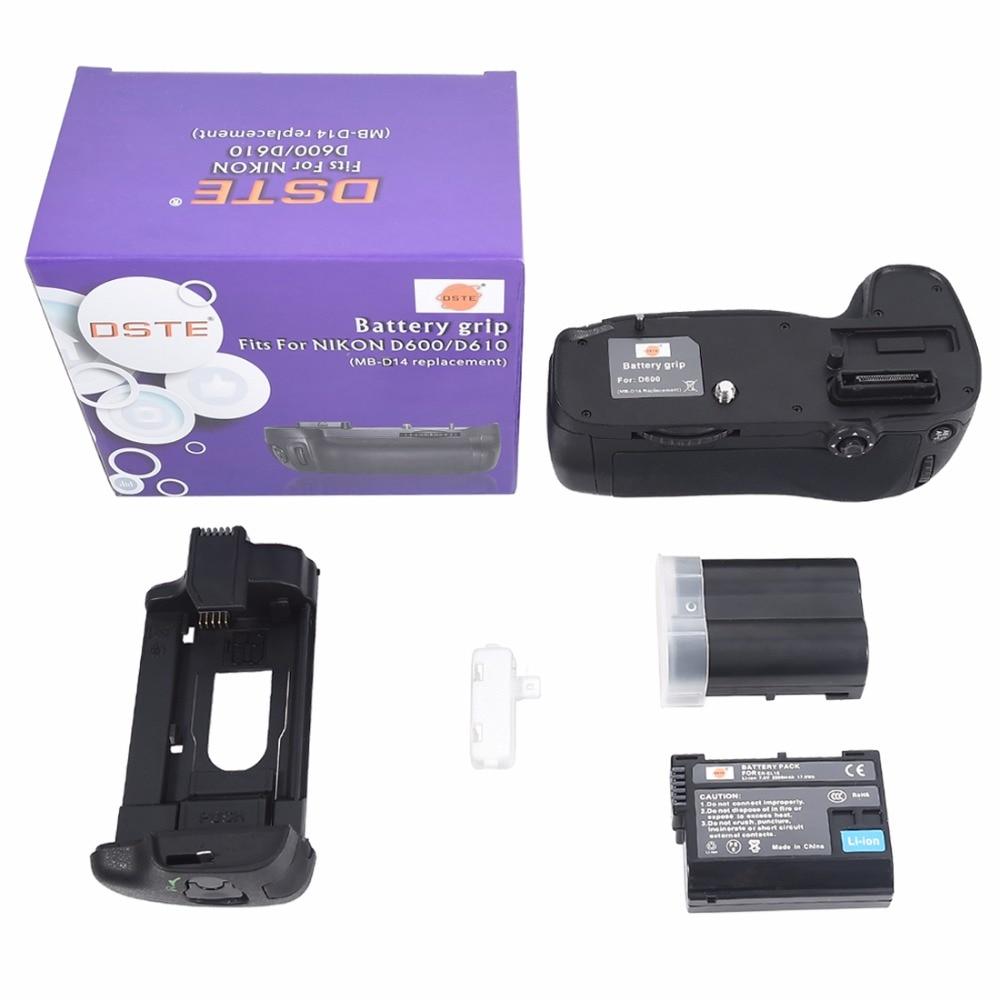DSTE MB-D14 Multi-Poder Vertical Battery Titular Aperto Handgrip com 2 PCS D610 D600 EN-EL15 para Nikon Camera
