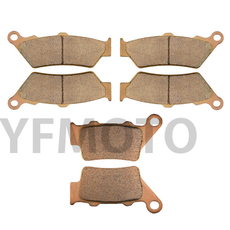 Motorcycle Front & Rear Brake Pads Kit For F800GS F800 F 800 GS 2008 2009  Brake Disks Sintered & Copper Based motorcycle brake pads ceramic composite for triumph 800 tiger 2011 2014 front rear oem new high quality zpmoto