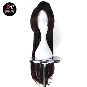 Волосы Miss U, термостойкие, длинные, прямые, темно-коричневые, черные, для костюмированной вечеринки, парика с когтями в виде хвоста