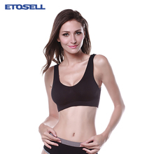 Women Unlined Cozy Push Up Active Bra 2019 New Sports Fitness Gym Yoga Elastic BH Underwear Crop Tops for Summer Solid Color