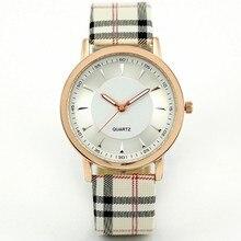 New Fashion Women's Watches Quartz Watch Scotland Style Plaid Leather Band Analog Lady Wrist Watch Green