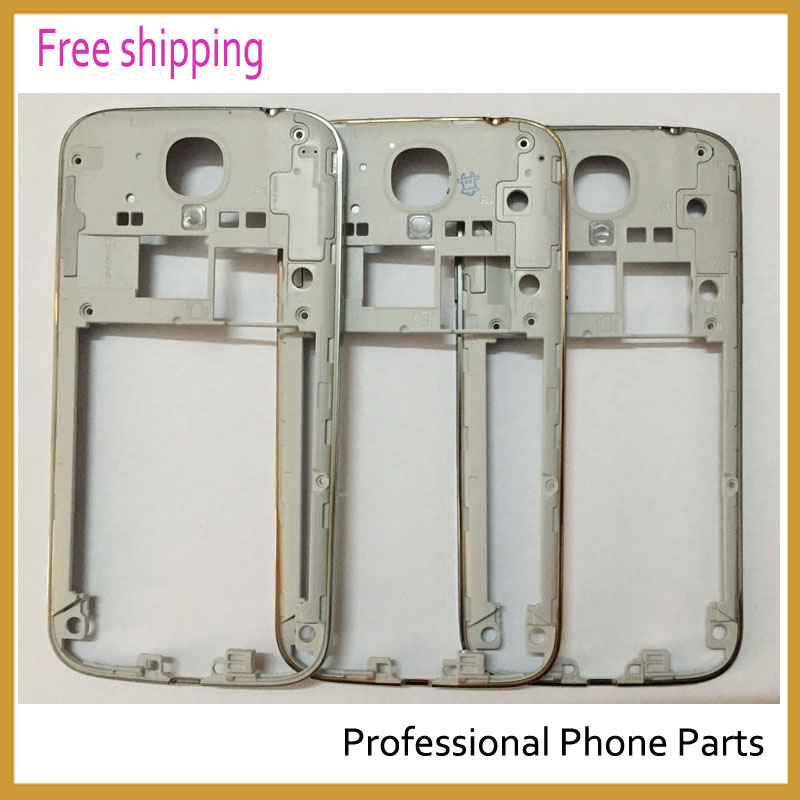 10pcs/lot Original Silver/gold/black Middle Frame Housing Case Replacement Part Bezel For Samsung Galaxy S4 I9500 I337 I9505