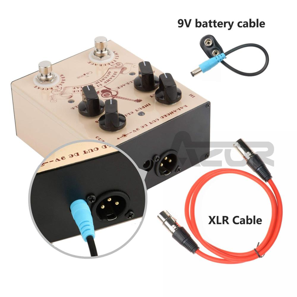 Caline CP 40 DI Box Use For Acoustic Guitar Effect Pedal With XLR Cable 3Pin Audio