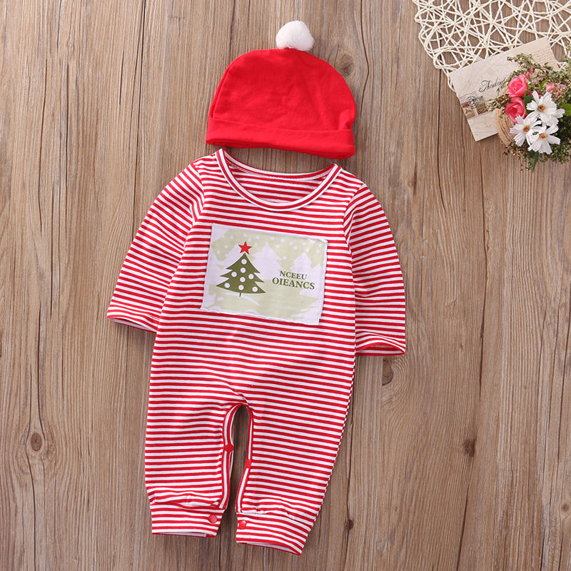Christmas Costumes Infant Baby Clothing Boy Girl Rompers Newborn Boys girls Romper Jumpsuit Hat Set Clothes  Kids Roupas 2017 baby knitted rompers girls jumpsuit roupas de bebe wool baby romper overalls infant toddler clothes girl clothing 12m 5y
