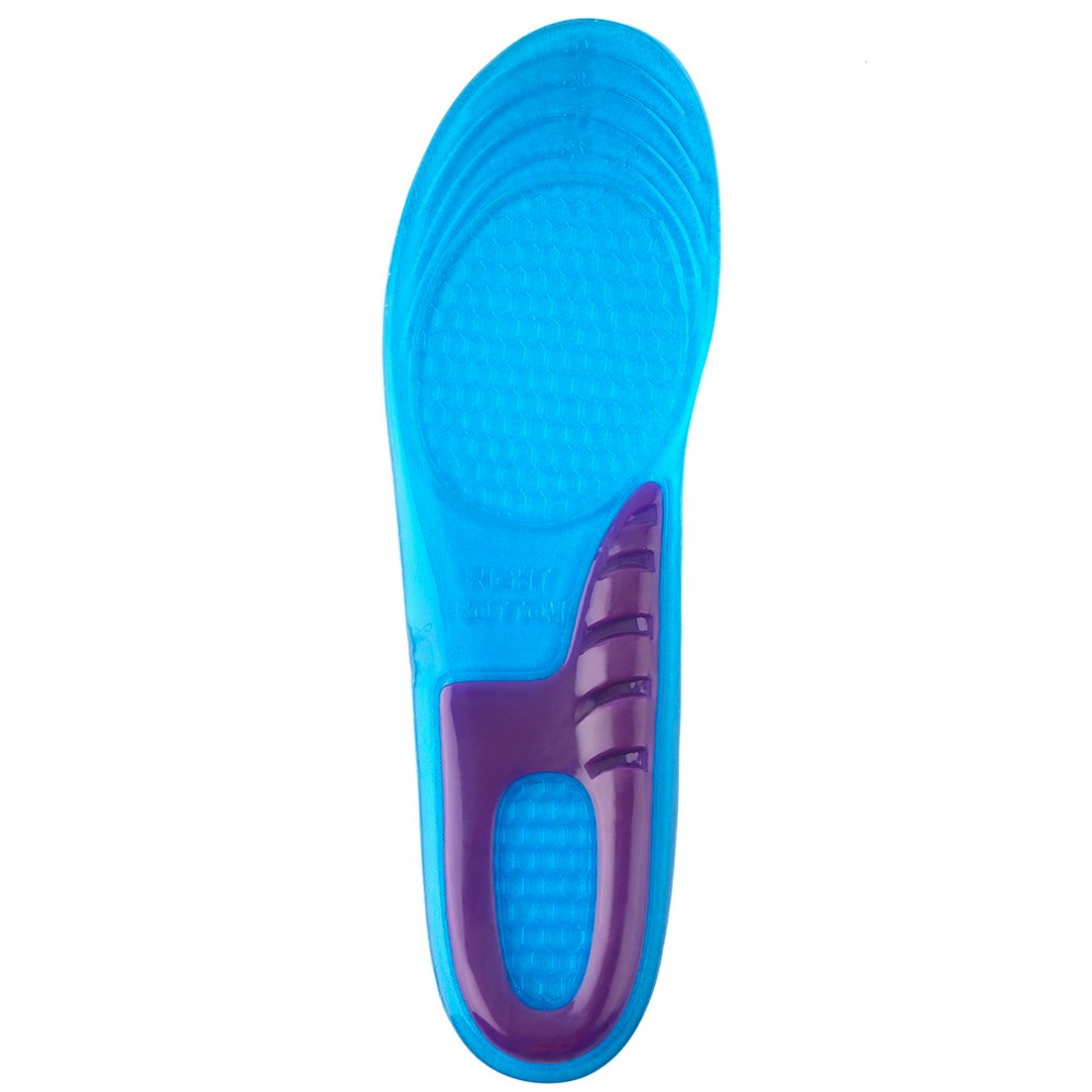 1pair Women Sports Massaging Breathable Silicone Gel Insoles Arch Support Orthopedic Plantar Fasciitis Popular Anti-Slippery