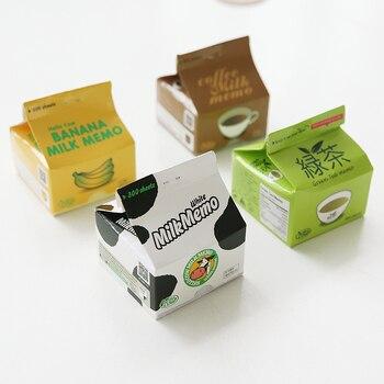 Hojas de 300 leche memo lindo palillo de poste notas té verde café nota almohadilla papelería oficina accesorios escolares 6305