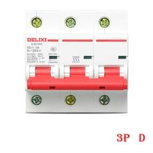 Miniature Circuit breaker Air switch DZ47-125 DELIXI MCB 3Pole  D Curvers 63A-125A   63A 80A 100A 125A сумка для ноутбука burst locus синяя