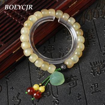 23ff3ed3ce5d BOEYCJR tibetano Natural caliente perlas brazaletes y brazaletes Vintage  joyería de Buda pulsera para mujer