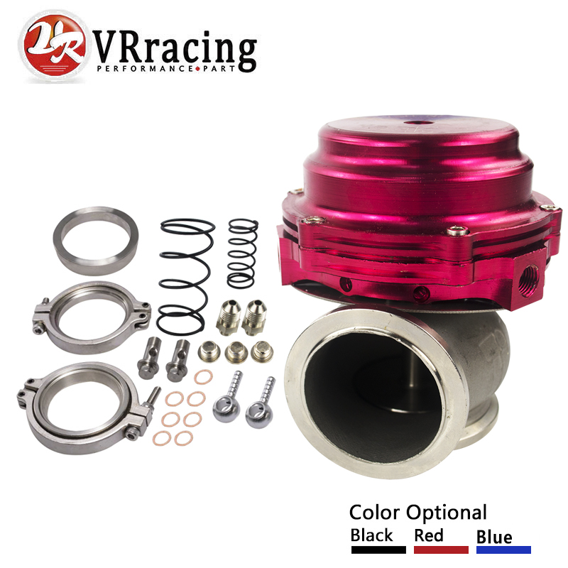 VR RACING-Water cooler 44mm TL Wastegate external turbo red/blue/black With Flange/Hardware MV-R Water-cooled w/ logo VR5834 lzone free ship water cooler 44mm tl wastegate external turbo red blue black with flange hardware mv r water cooled w logo