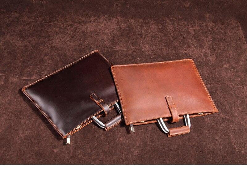 HTB1GQU7mXooBKNjSZPhq6A2CXXaK Genuine Leather Men's Handbags Crazy Horse Leather Man Retro Tote Bag Shoulder Messenger Bag Business Men Briefcase Laptop Bag