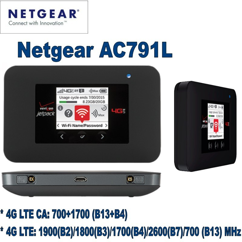 NETGEAR AC791L Verizon Wireless 4G LTE Mobile Hotspot netgear ac791l verizon wireless 4g lte mobile hotspot