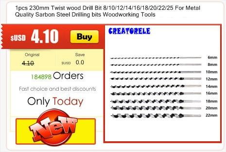 "8 NEW Century Drill  Wood Tool   7//16/"" Drill Bit 5.5/"" Length"
