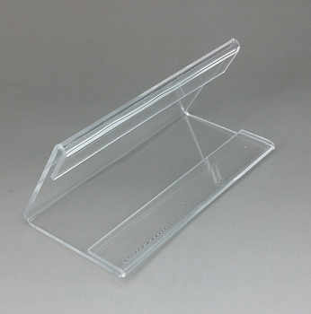 Plastic Clear Acrylic T2mm Sign Display Promotion Paper Card Label Name Clip Holder Stands On Table Countertop V Type 10pcs