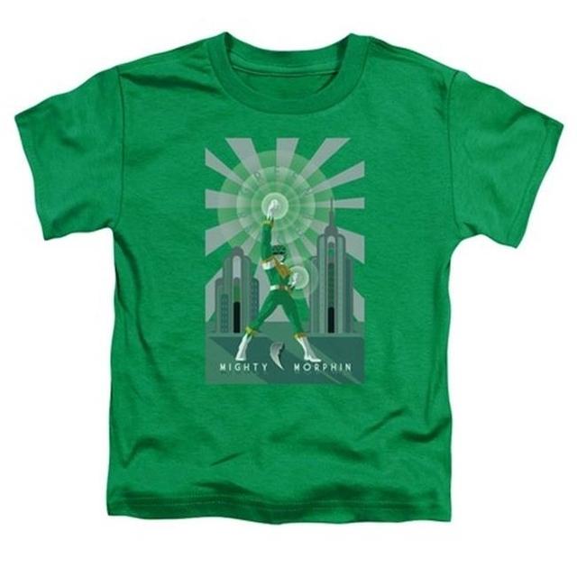 Trevco Power Rangers-Green Ranger Deco Short Sleeve Toddler Tee Kelly Green – Large 4T