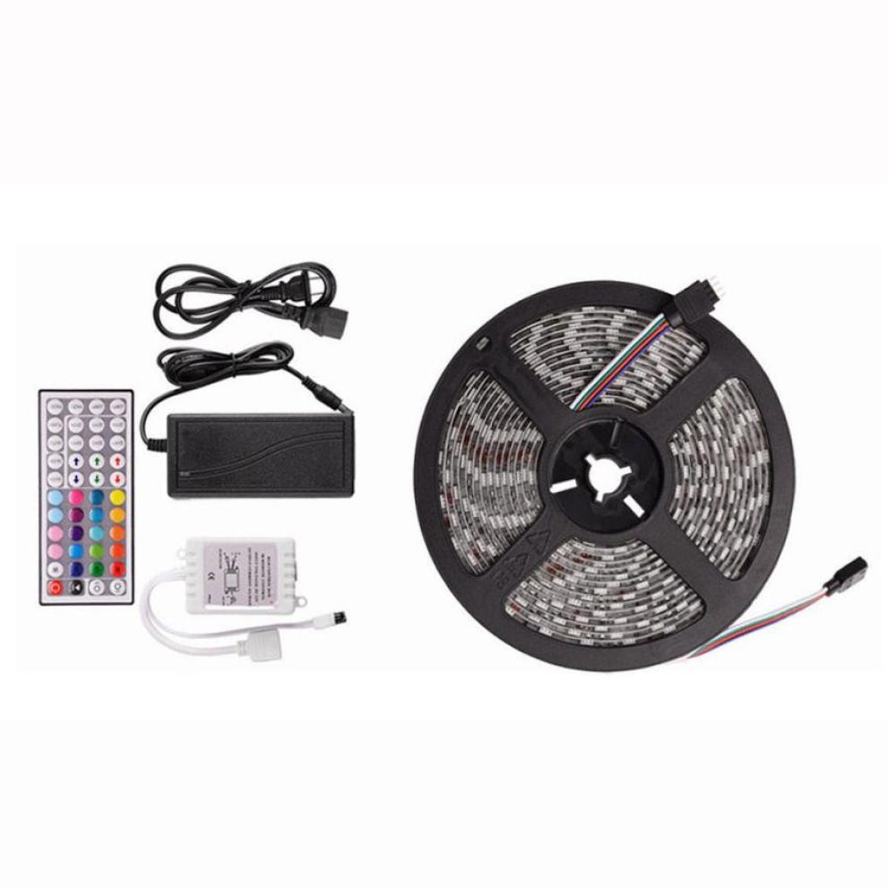 MUQGEW 10M RGB 5050 300 Led SMD Flexible Light Strip Lamp+44 key IR Remote Controller Decor lamp tape For TV Background Lighting