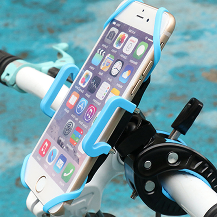 Hot Bike Holder Adjustable Cell Phone GPS Motorcycle Bicycle Handlebar Bike Mount Holder For Universal Black-Blue 1 4 motorcycle bike bicycle plastic mount handlebar holder tripod for digital camera black