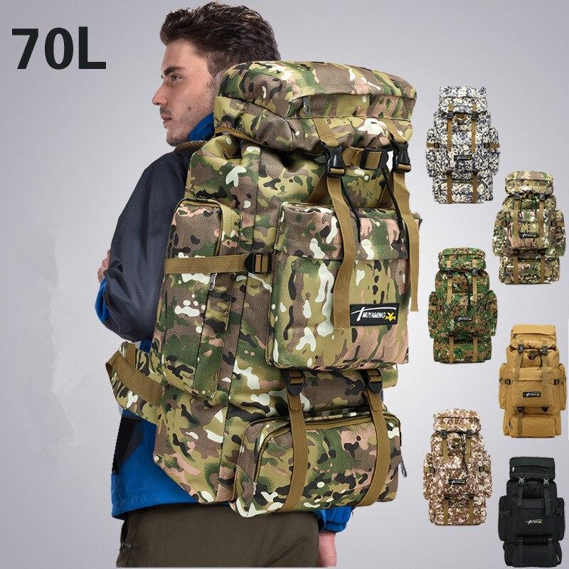 70L sac à dos en plein air Camping sac étanche alpinisme randonnée sacs à dos Molle Sport sac à dos d'escalade - 6