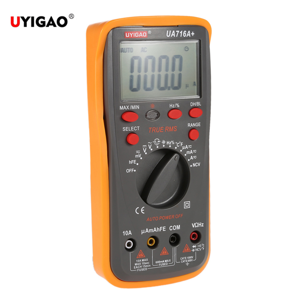 Accuracy Digital Multimeter Voltmeter Ammeter Current Resistance Capacitance Frequency Resistance Diode Temperature Triode Meter f47n multimeter pointer mechanical capacitance meter ammeter voltmeter pocket