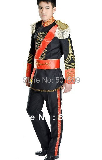 Medieval Renaissance mens suit period clothing Halloween performance /Prince William /civil war/Colonial Belle stage