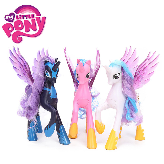 22cm My Little Pony Toys Princess Celestia Glitter Luna Rainbow Dash Princess Cadance PVC Action Figures Collectible Model Dolls