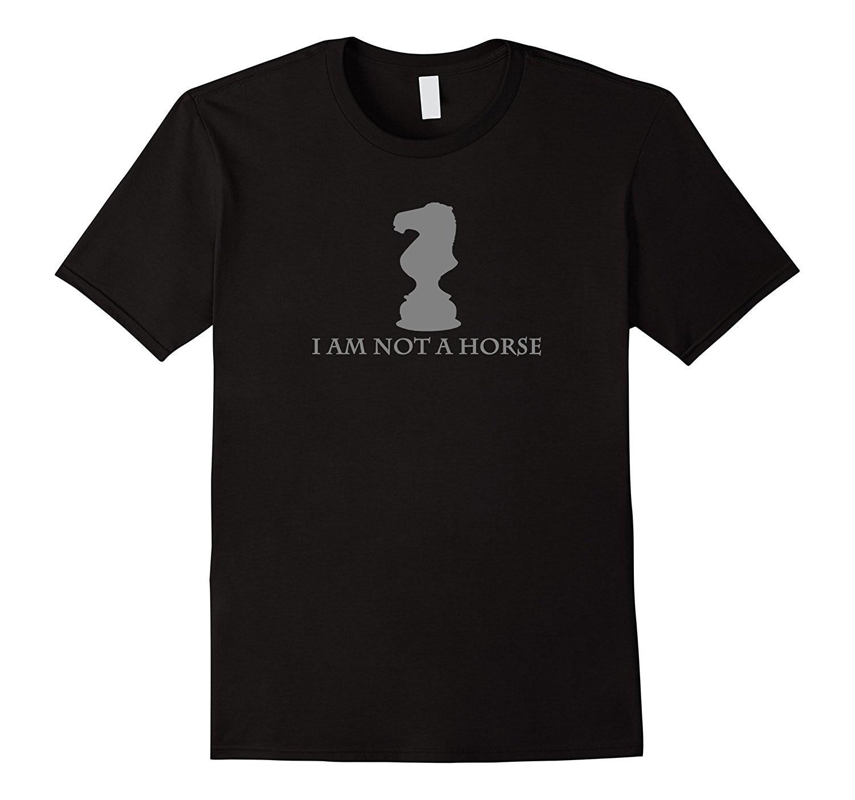 Я не лошадь-забавные шахматы кусок рубашки Летняя рубашка с короткими рукавами Топы корректирующие S ~ 3XL большой Размеры cottontees Новые 2018 ново...
