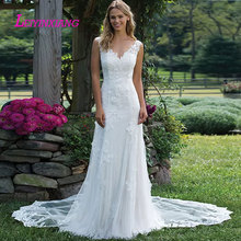 LEIYINXIANG 2019 Wedding Dress Sexy Mermaid Bride V-neck