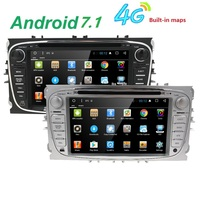 Black Silver Android HD Two Din 7Inch Car DVD For FORD FOCUS Android 7 1 Car