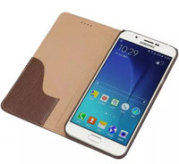 Wallet Case Genuine Real Leather Flip Cover With Stand Holder Card Slots For Samsung Galaxy A8