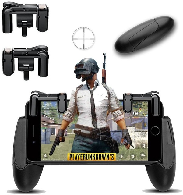 Mobile Control Goose Egg Gamepad +Trigger Aim Button Shooter Touch Pad Joystick for iPhone Android