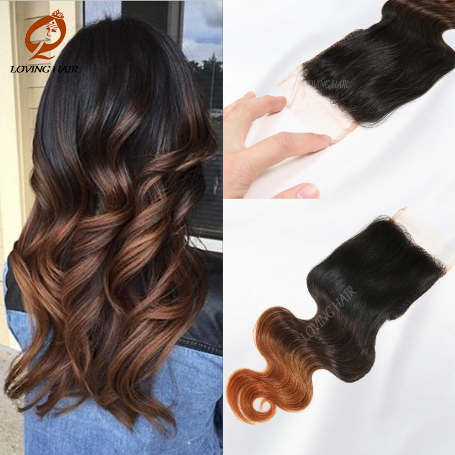 ФОТО 100 Human Hair Product Unprocessed Virgin Malaysian Ombre Lace Closure 4*4 Malaysian Lace Closure Body Wave Hair Weaves