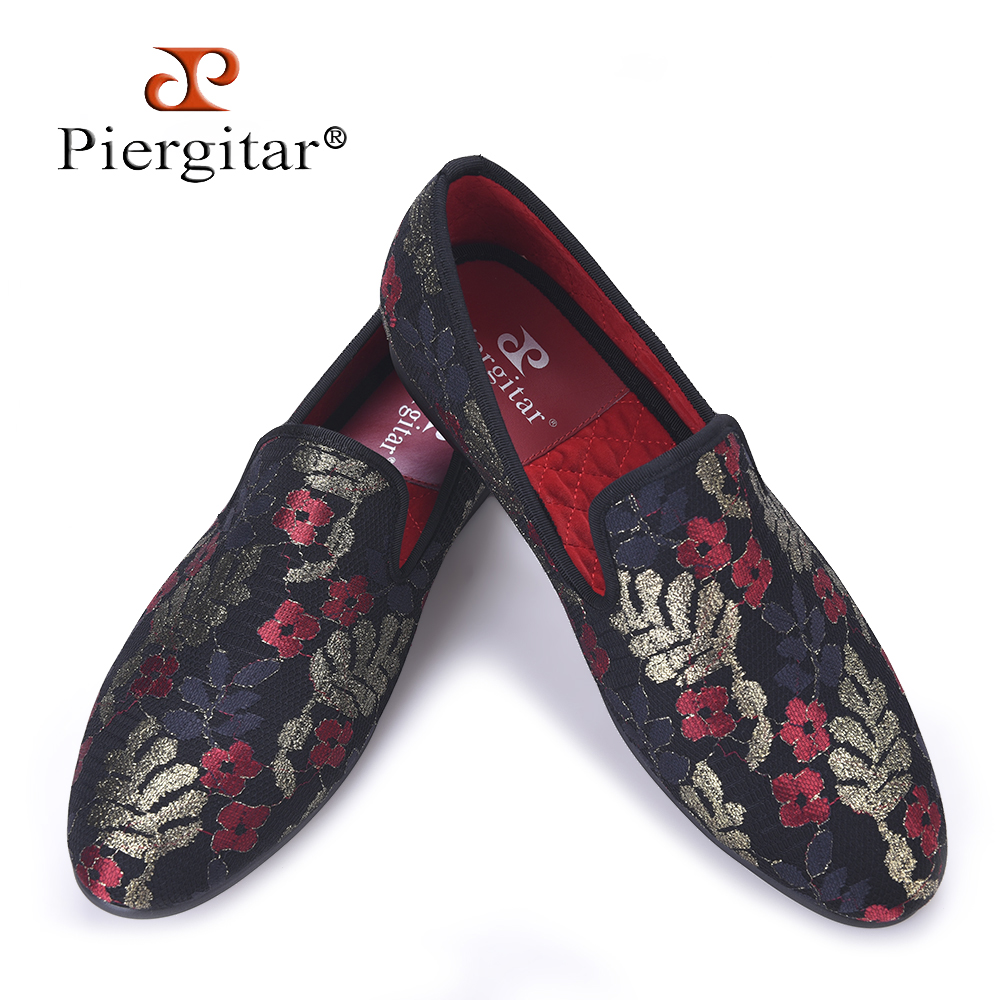 New sequined cloth printing men shoes Luxury and Fashion three color flower men loafers plus size men's flats size US 4-17 shoulder cut plus size flower blouse