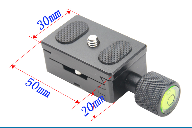 Metal K30 1/4 Screw Adjustable Clamp Camera Quick release plate for Tripod Monopod Ball Head