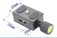 Из Металла K30 1/4 Винт Регулируемый зажим Камера Quick Release Plate для штатива монопод шаровой головкой