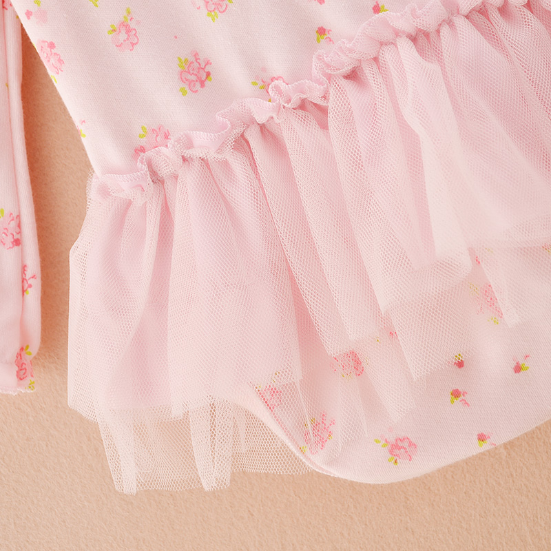 heat! cotton clothing newborn baby jumpsuit printing bow long-sleeved coveralls baby triangle climbing clothes tutu Girls Boys