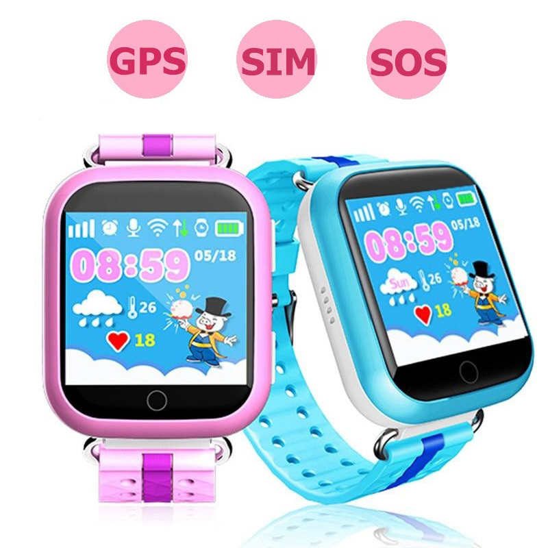 GPS smart watch Q750 Q100 baby watch Wifi 1.54inch touch screen SOS Call Location Device Tracker for Kid Safe Russian PK Q80 Q50 цена