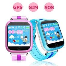 GPS Smart Watch Q750 Q100 детские часы Wi-Fi 1.54 дюймовый сенсорный экран SOS вызова расположение устройства трекер для малыша Безопасный Российской pk Q80 Q50