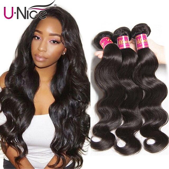 Волосы UNICE компании индийские волосы волнистые человеческие волосы пучки 1 шт. remy волосы наращивание волос парик 8-30 дюймов можно смешивать любую длину