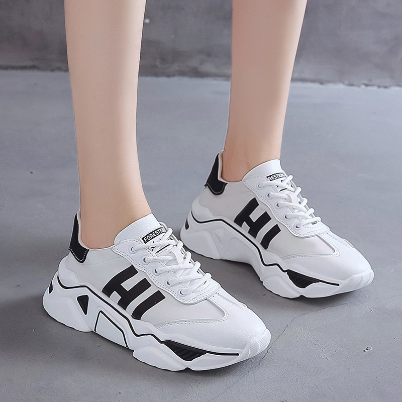 Chunky Basket Femme Platform Sneakers Women Summer Thick Bottom Casual Vulcanized Shoes Woman Outdoor Brand Walking Footwear(China)